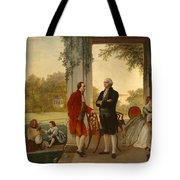 Washington And Lafayette At Mount Vernon Tote Bag