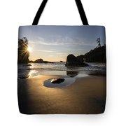 Washington Beach Sunstar Dusk Tote Bag
