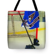 Washington Capitals Blue Away Hockey Jersey Tote Bag