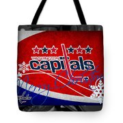 Washington Capitals Christmas Tote Bag
