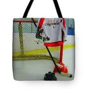 Washington Capitals Home Hockey Jersey Tote Bag