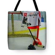 Washington Capitals Mike Green Away Hockey Jersey Tote Bag