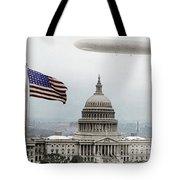 Washington Capitol And Blimp Tote Bag