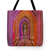Washington Cathedral Light Show Tote Bag