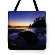 Washington Coast Sunset Pool Of Radiance Tote Bag