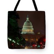 Washington Dc At Night Tote Bag