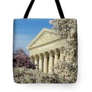 Washington Dc Cherry Blossom Supreme Court Tote Bag