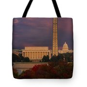 Washington Dc Iconic Landmarks Tote Bag