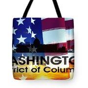 Washington Dc Patriotic Large Cityscape Tote Bag