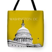 Washington Dc Skyline The Capital Building - Gold Tote Bag