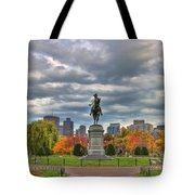 Washington In The Public Garden Tote Bag by Joann Vitali