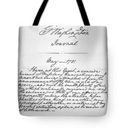 Washington: Journal, 1781 Tote Bag