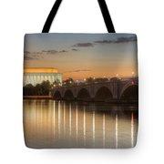 Washington Landmarks At Dawn I Tote Bag