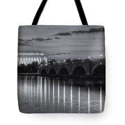 Washington Landmarks At Dawn II Tote Bag