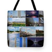 Washington Monument Collage 2 Tote Bag