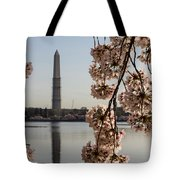 Washington Monument Framed By Blossoms Tote Bag