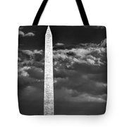 Washington Monument In Cloudy Sky Tote Bag