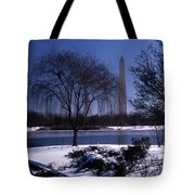 Washington Monument Winter  Tote Bag