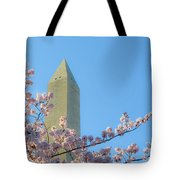 Washington Monument With Blossoms Tote Bag