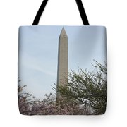 Washington Monument With Cherry Blossom Tote Bag