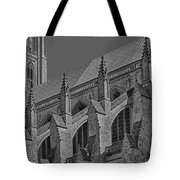 Washington National Cathedral  Bw Tote Bag
