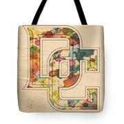 Washington Nationals Logo Art Tote Bag by Florian Rodarte