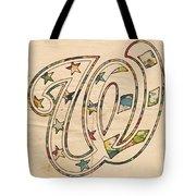Washington Nationals Logo Vintage Tote Bag by Florian Rodarte