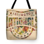 Washington Nationals Poster Art Tote Bag