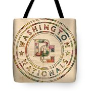 Washington Nationals Poster Vintage Tote Bag
