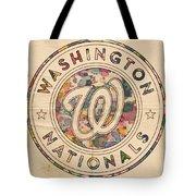 Washington Nationals Vintage Art Tote Bag by Florian Rodarte