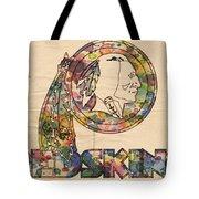 Washington Redskins Logo Art Tote Bag by Florian Rodarte
