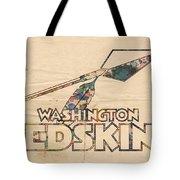 Washington Redskins Vintage Logo Tote Bag by Florian Rodarte