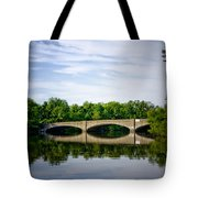 Washington Road Bridge Over Lake Carnegie Princeton Tote Bag