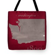 Washington State University Cougars Pullman College Town State Map Poster Series No 123 Tote Bag