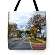 Washington's Crossing In The Fall Tote Bag