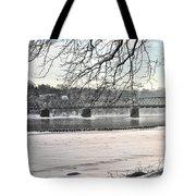 Washingtons Crossing Winter Tote Bag