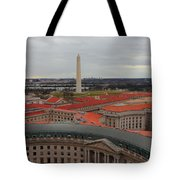 Washintgon Monument From The Tower Of The Old Post Office Tower Tote Bag