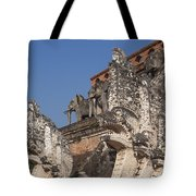 Wat Chedi Luang Phra Chedi Luang Five-headed Naga And Elephants Dthcm0055 Tote Bag