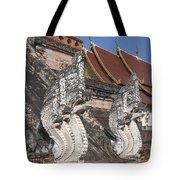Wat Chedi Luang Phra Chedi Luang Five-headed Naga Dthcm0052 Tote Bag