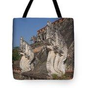 Wat Chedi Luang Phra Chedi Luang Five-headed Naga Dthcm0054 Tote Bag