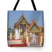Wat Kampaeng Phra Ubosot And Gate Dtha0142 Tote Bag