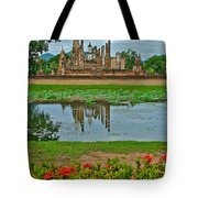 Wat Mahathat In13th Century Sukhothai Historical Park-thailand Tote Bag