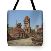 Wat Mahathat Prangs And Chedi Dtha0231 Tote Bag