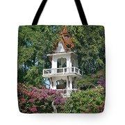 Wat Mahawanaram Bell And Drum Tower Dthu661 Tote Bag