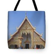 Wat Phra Singh Phra Wihan Luang Gable Dthcm0238 Tote Bag