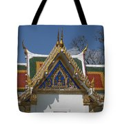 Wat Phrasri Mahathat Ubosot North Wing Gable Dthb1469 Tote Bag