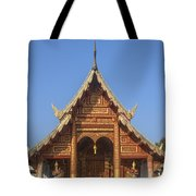 Wat Phuak Hong Phra Wihan Gable Dthcm0575 Tote Bag