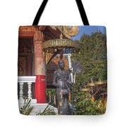 Wat Phuak Hong Phra Wihan Monk Figure Dthcm0579 Tote Bag