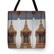 Wat Sapum Thammaram Ubosot Windows Dthp227 Tote Bag