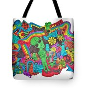 Watch Out Tote Bag by Chelsea Geldean